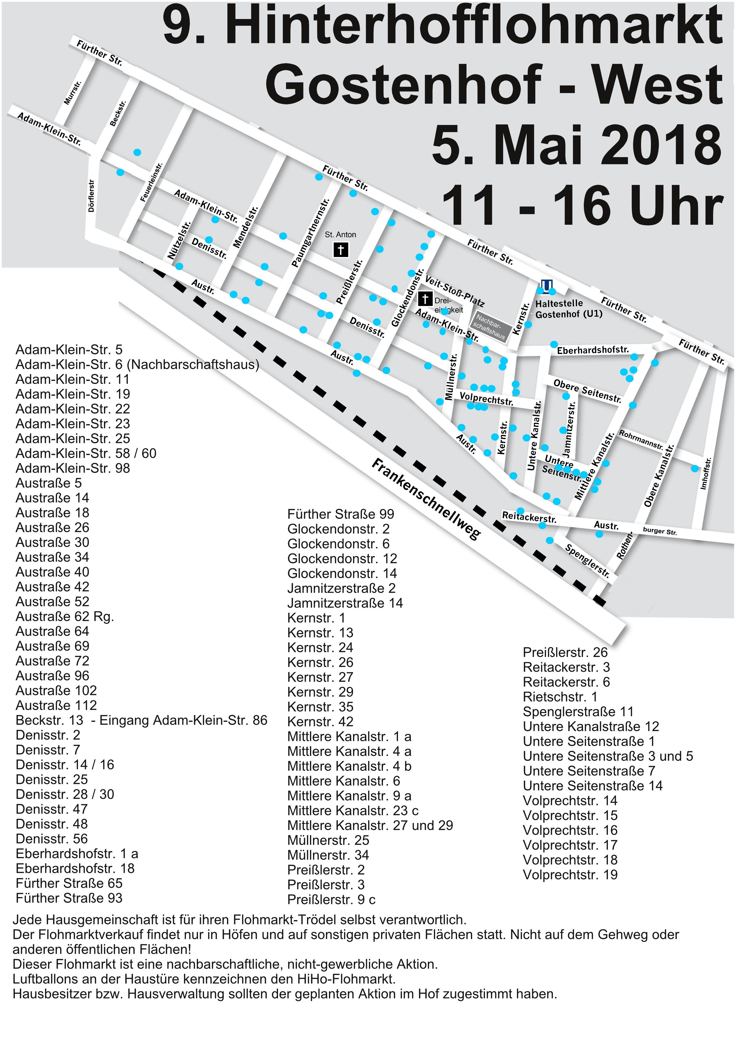 Hinterhofflohmarkt Gostenhof West